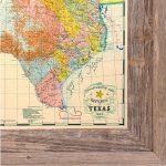 Buy Republic Of Texas Map 1845 Framed   Historical Maps And Flags   Republic Of Texas Map Framed