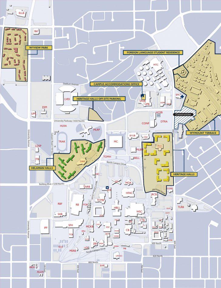 Byu Campus Map Printable