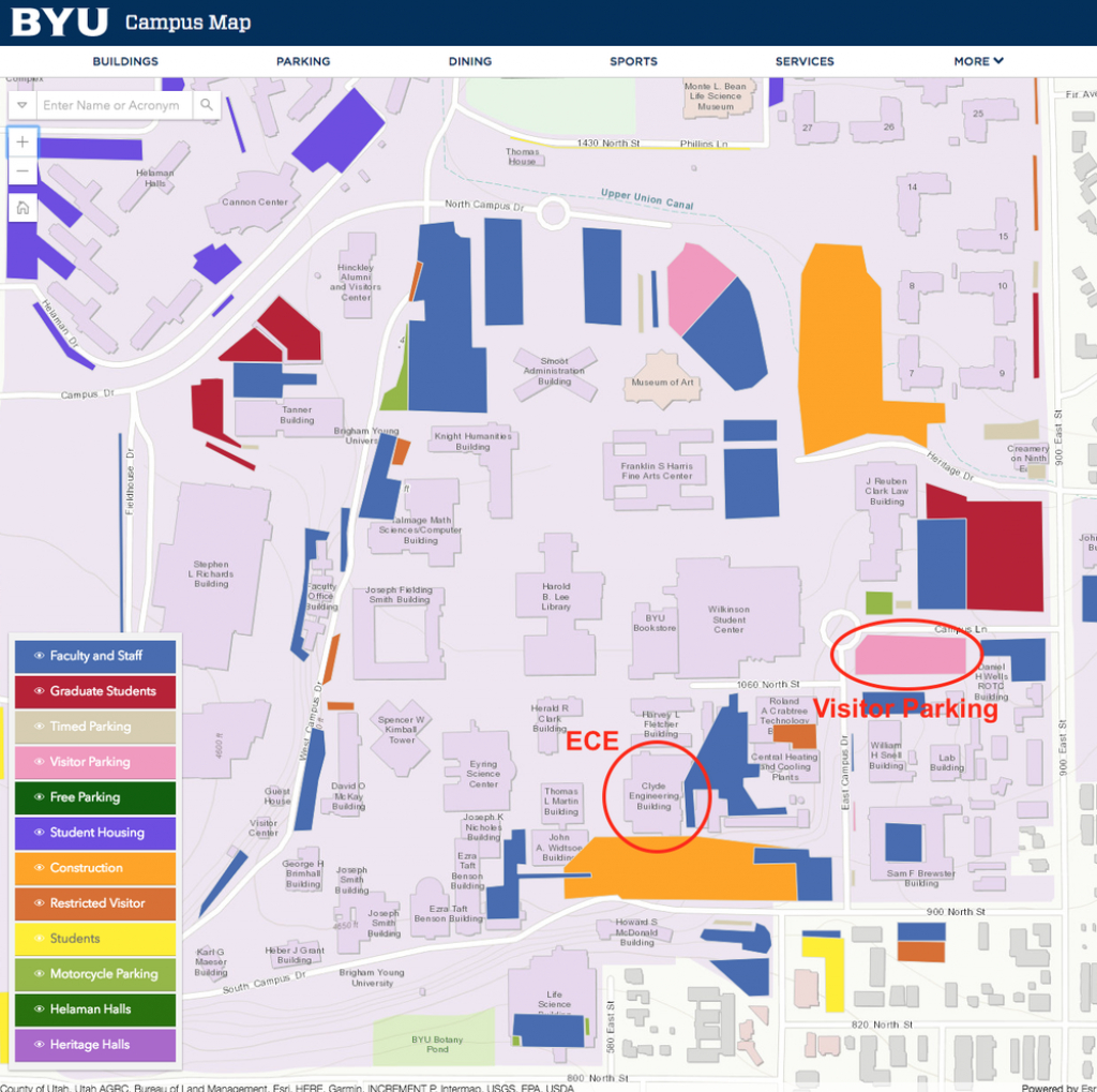 Byu Campus Map – Goletapublishing - Byu Campus Map Printable