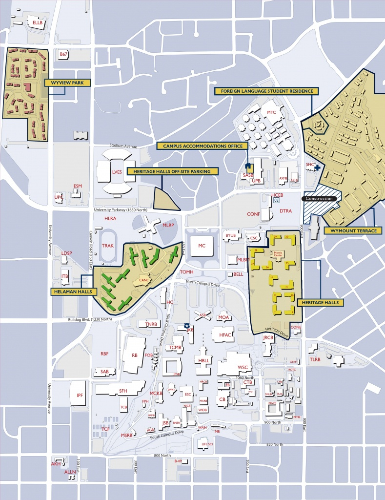 Byu On-Campus Housing | Student Body Props | Campus Map, College - Uw Madison Campus Map Printable