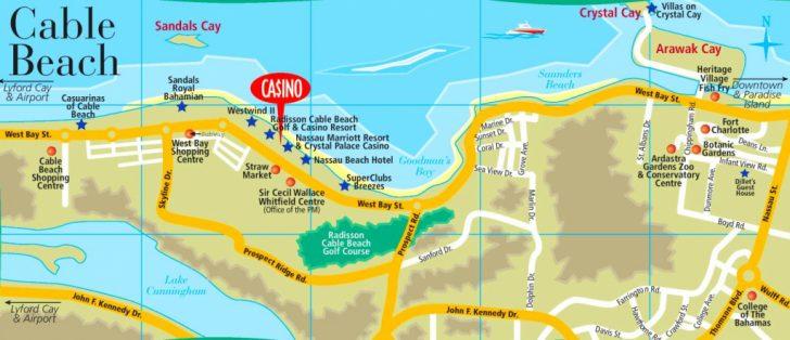Printable Map Of Nassau Bahamas