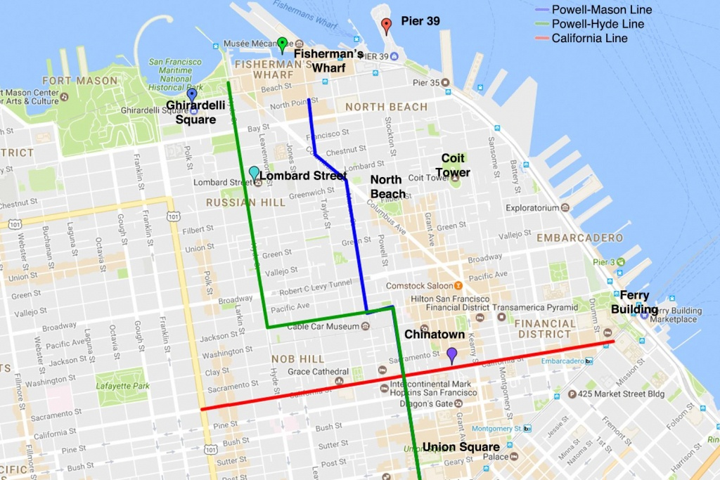 Cable Car Routes San Francisco | Examples And Forms - Printable Map San Francisco Cable Car Routes