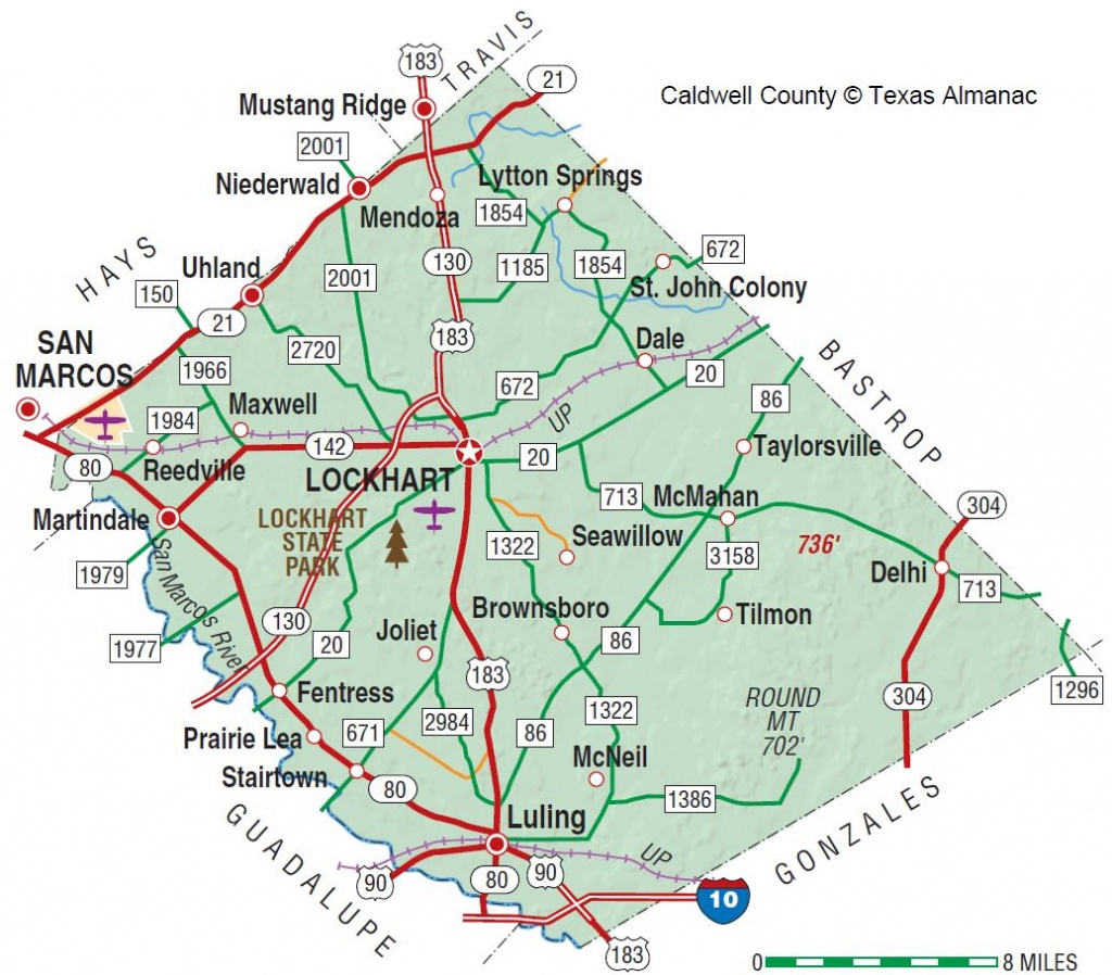 Caldwell County | The Handbook Of Texas Online| Texas State - Luling Texas Map