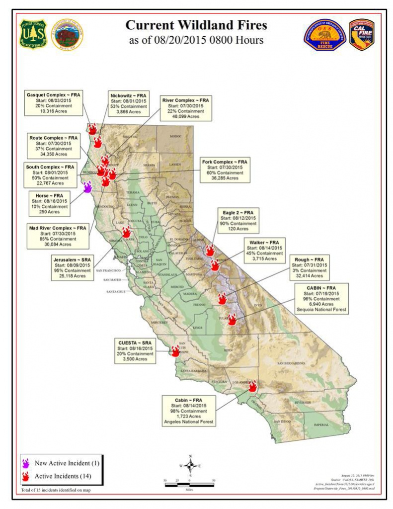 Calfire Map Of Current Wildland Fire Activity | A Blog For The - Map Of Current Forest Fires In California