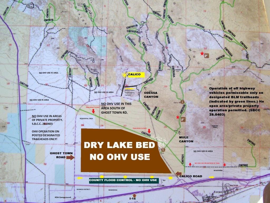 Calico Ohv Information - Blm Ohv Maps California