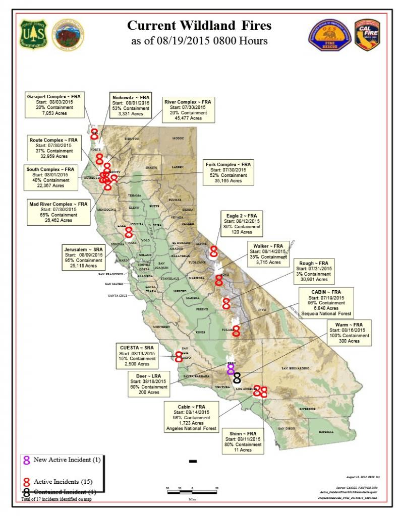 California Active Wildfire Map - Active Fire Map California