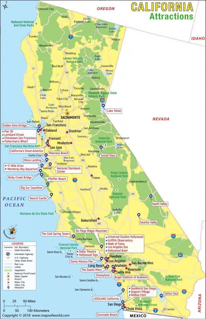 California Attractions Map   Travel In 2019   California Attractions - California Things To Do Map
