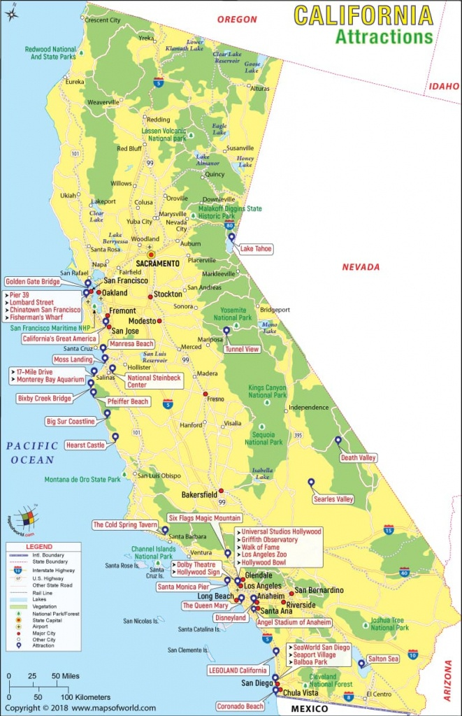 California Attractions, Things To Do In California And Places To Visit - Surf Spots In California Map
