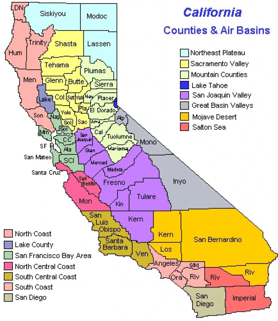 California Coast Cities Map Map California California State Map With - California County Map With Cities
