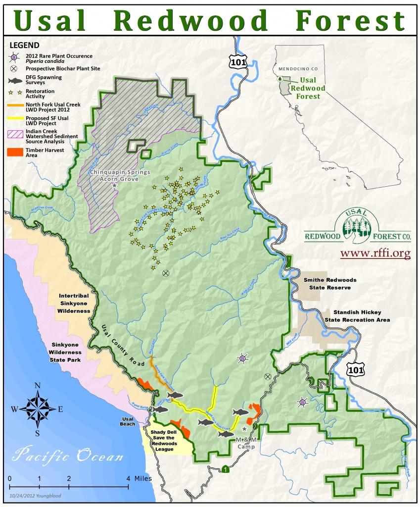 California Coastal Redwood Parks With Redwoods Map - Touran - Redwoods Northern California Map