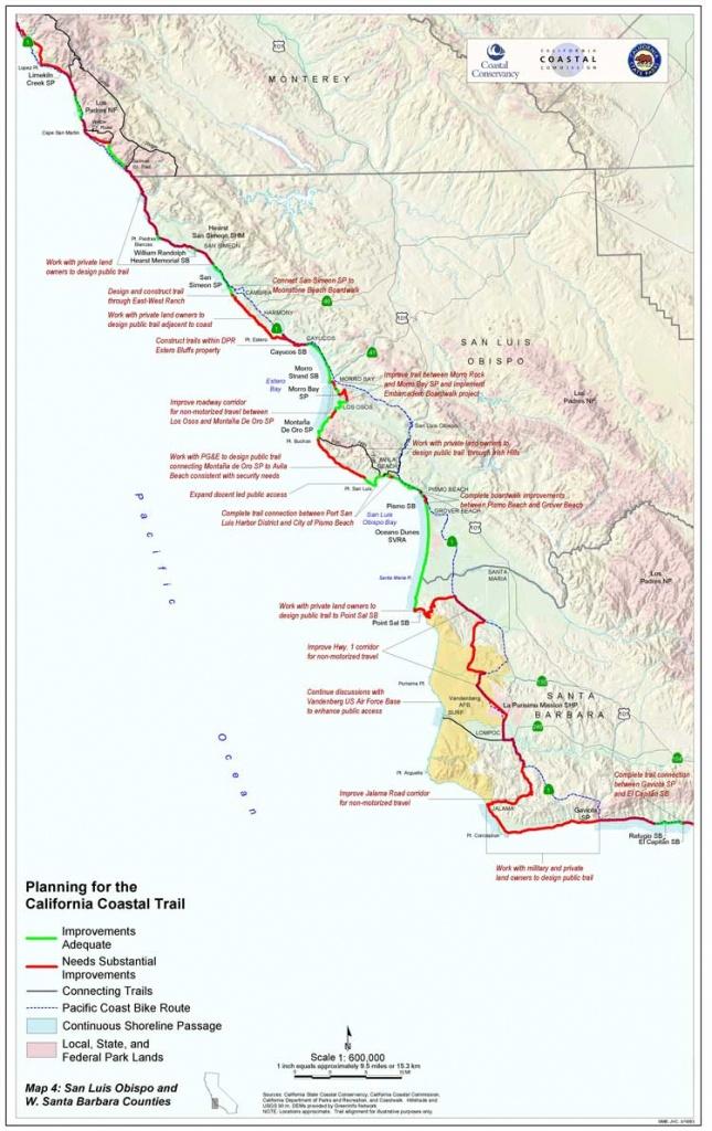 California Coast Bike Route Map