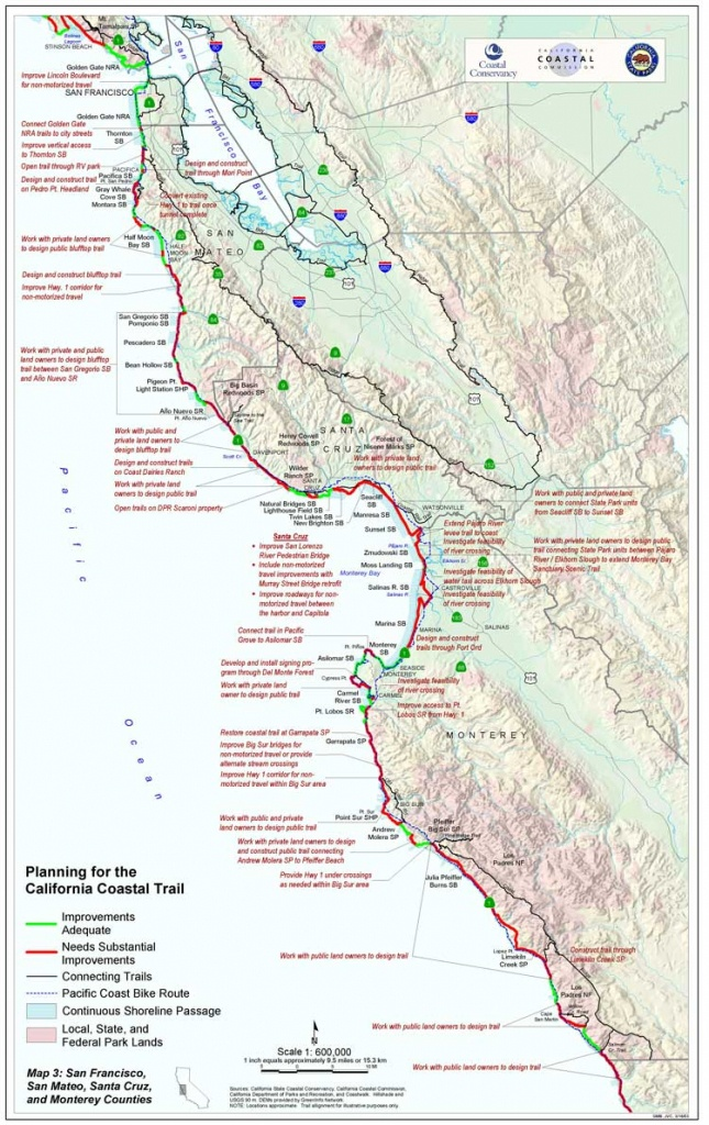 California Coastal Trail - Northern California Hiking Map
