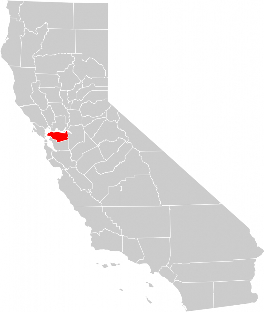 California County Map (Contra Costa County Highlighted) • Mapsof - La Costa California Map
