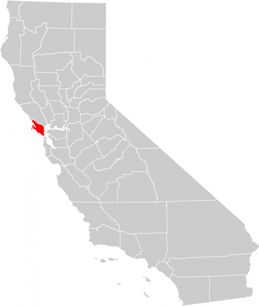 California County Map (Marin County Highlighted) • Mapsof - Marin County California Map