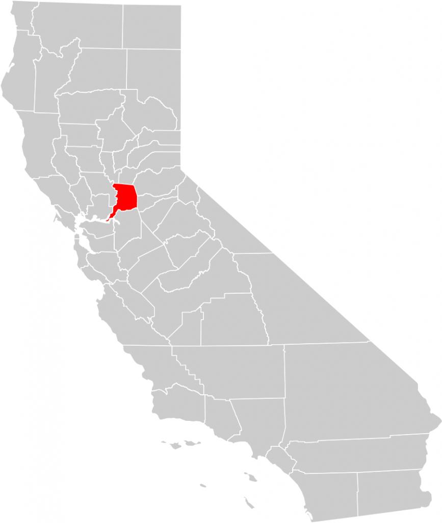 California County Map (Sacramento County Highlighted) • Mapsof - Map To Sacramento California