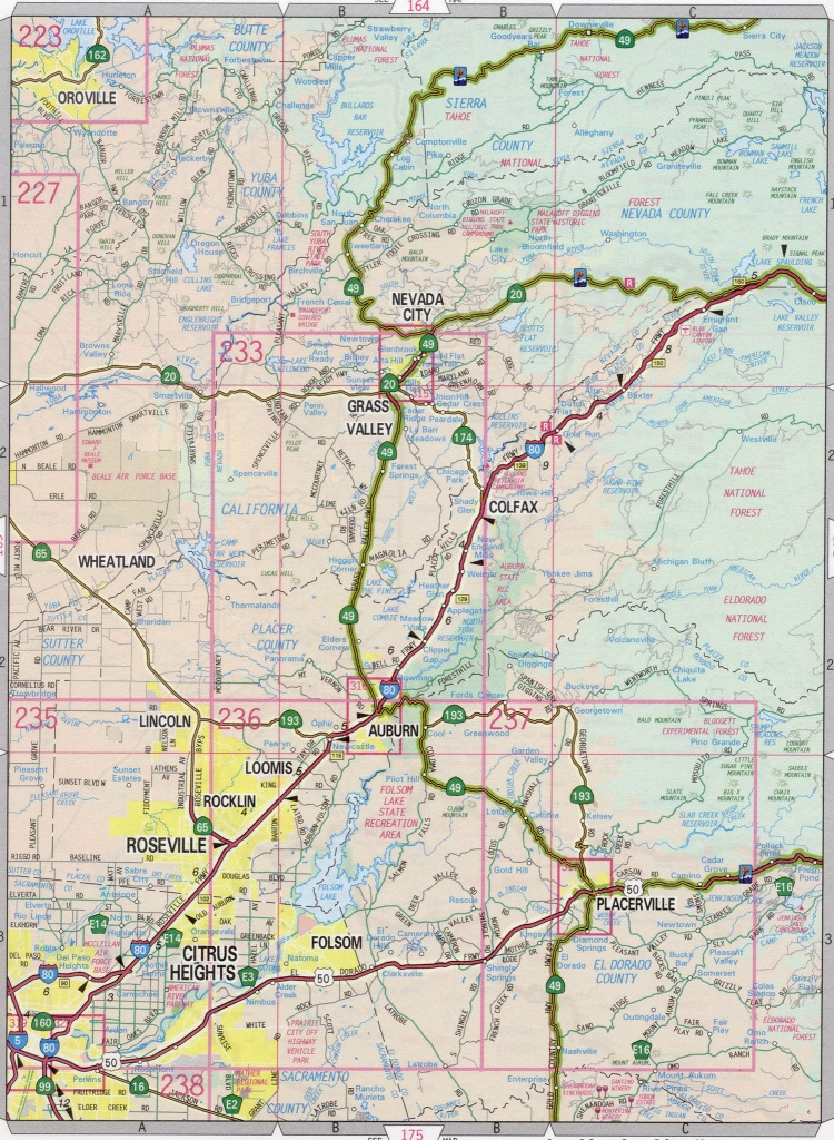 California County Map With Roads And Travel Information | Download - California County Map With Roads