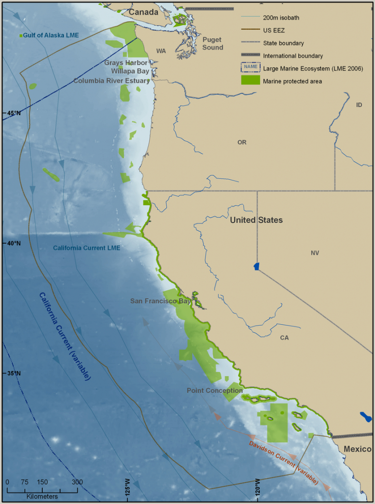 California Current Large Marine Ecosystem (Cclme). Map Also Shows - California Marine Protected Areas Map