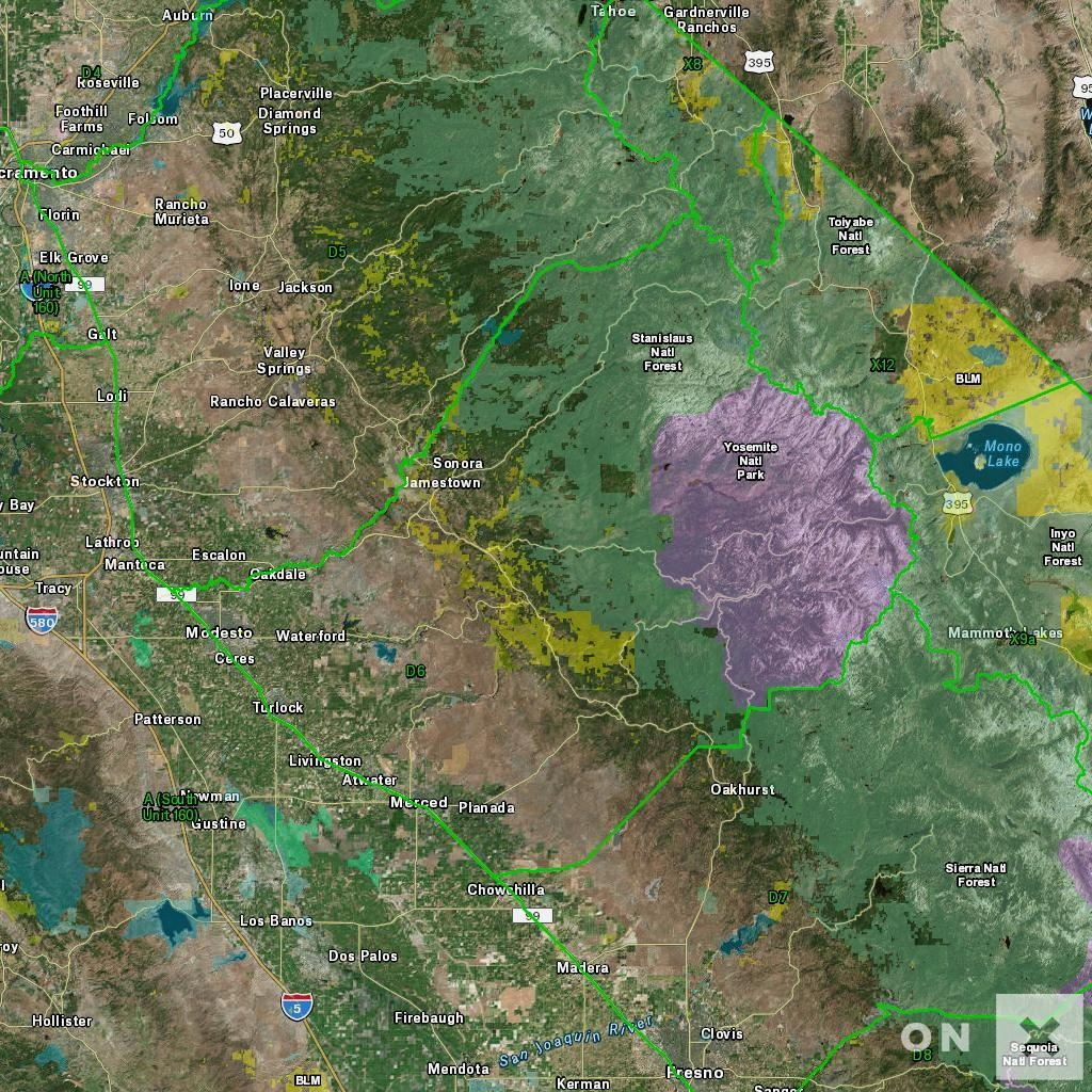California D6 Deer Hunting Zone - Map & Information - California D5 Hunting Zone Map