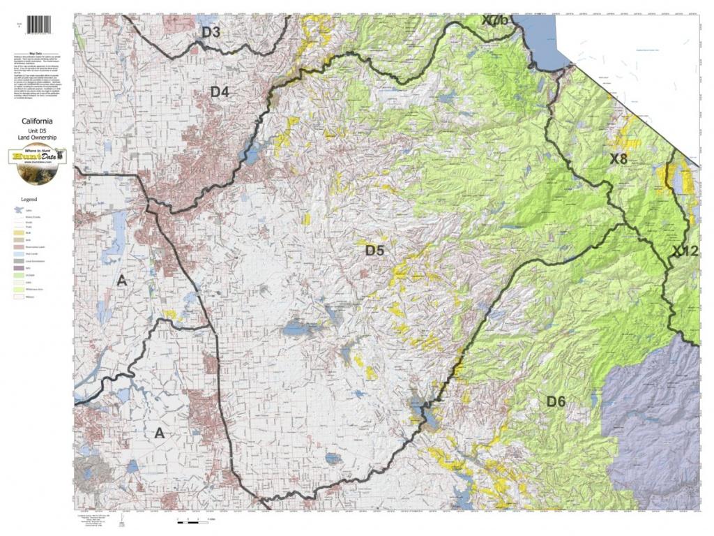 California Deer Hunting Zone D5 Map - Huntdata Llc - Avenza Maps - California D5 Hunting Zone Map
