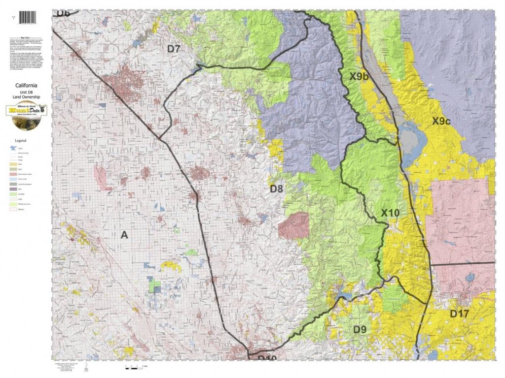 California Deer Hunting Zone D8 Map - Huntdata Llc - Avenza Maps - California D8 Hunting Zone Map