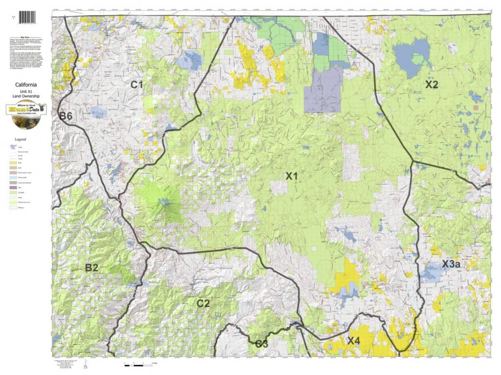 California Deer Hunting Zone X1 Map - Huntdata Llc - Avenza Maps - California Deer Hunting Map