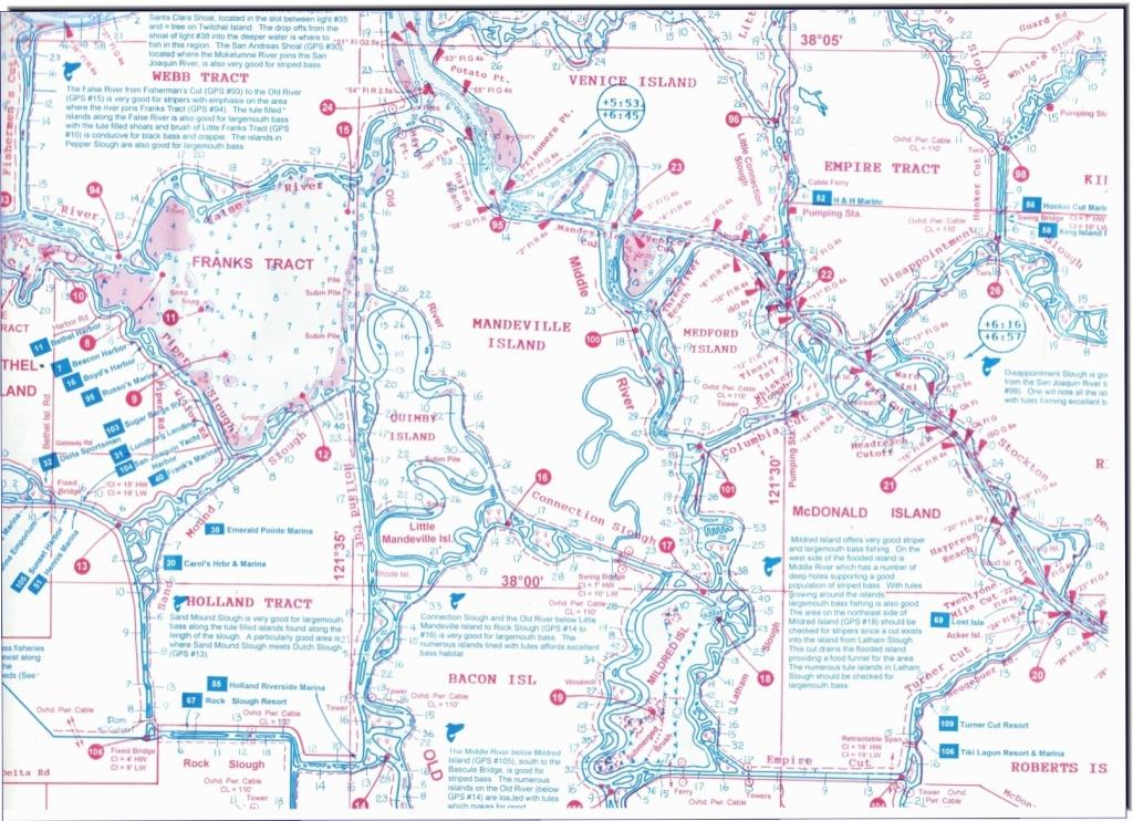California Delta Maps-Fish N Map - Rio Vista Ca • Mappery - California Delta Map