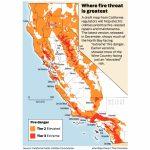 California Fire Threat Map Not Quite Done But Close, Regulators Say   California Wildfire Map