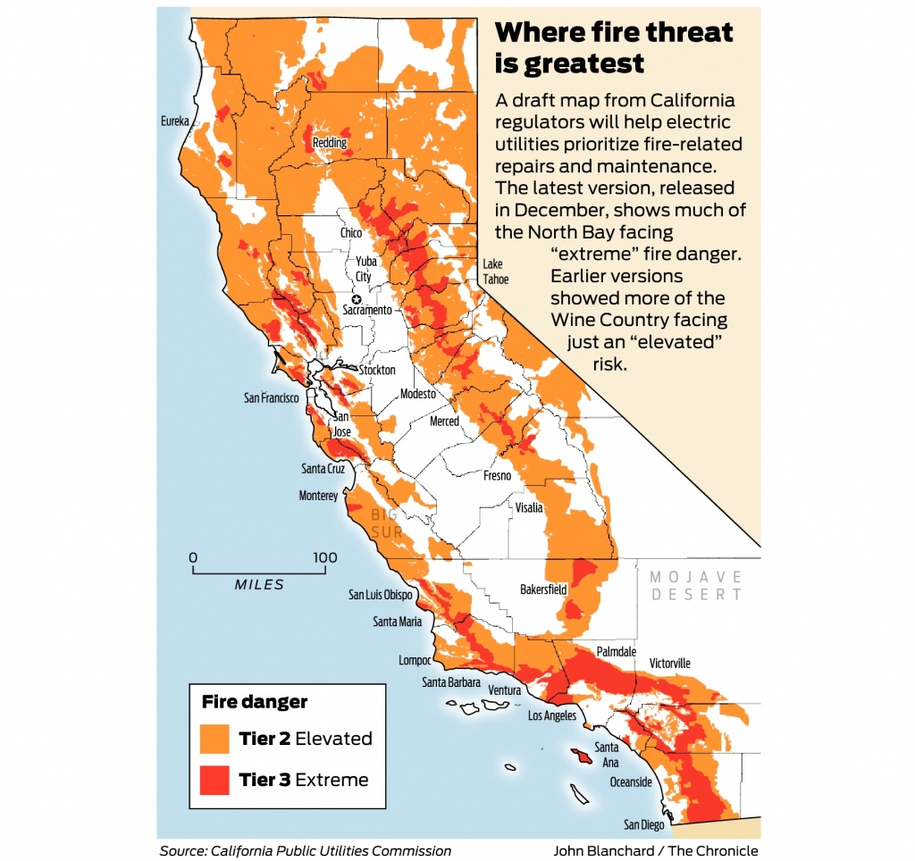 California Fire-Threat Map Not Quite Done But Close, Regulators Say - Map Of California Wildfires Now