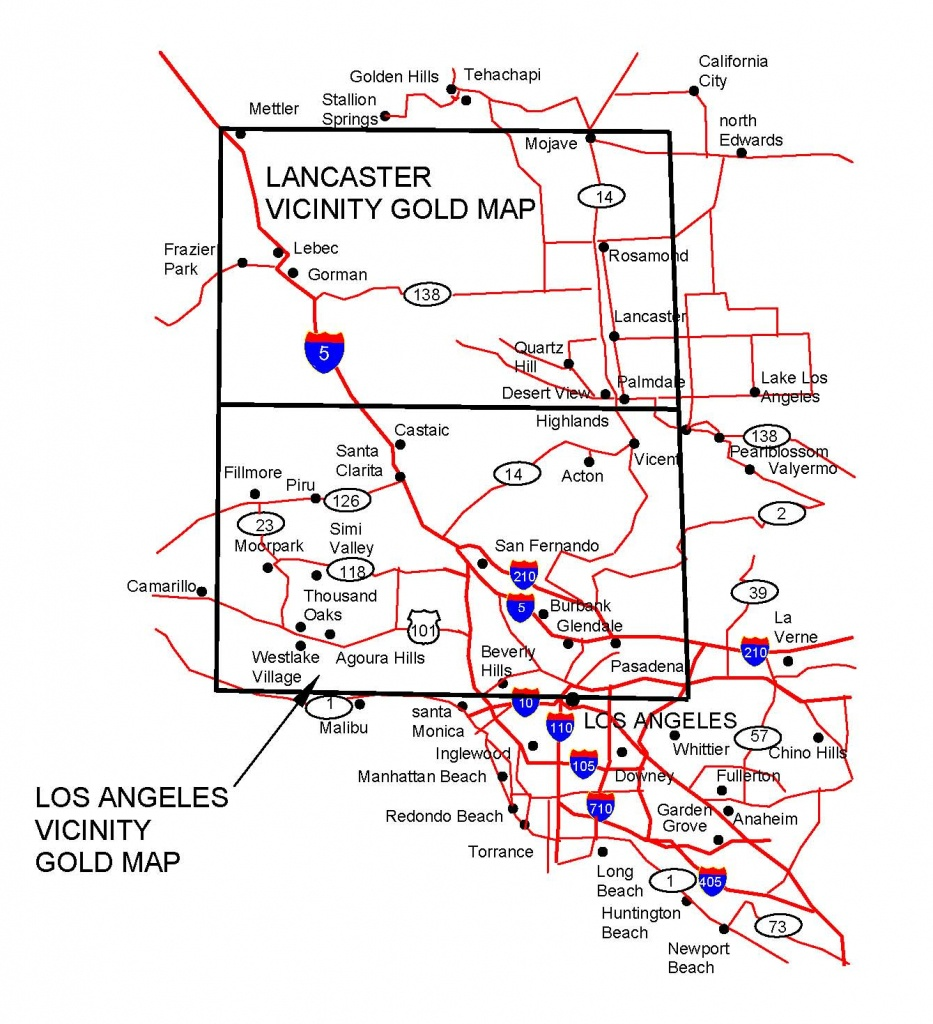 California Gold Maps, Gold Placers And Gold Panning And Metal - Gold Prospecting Maps California