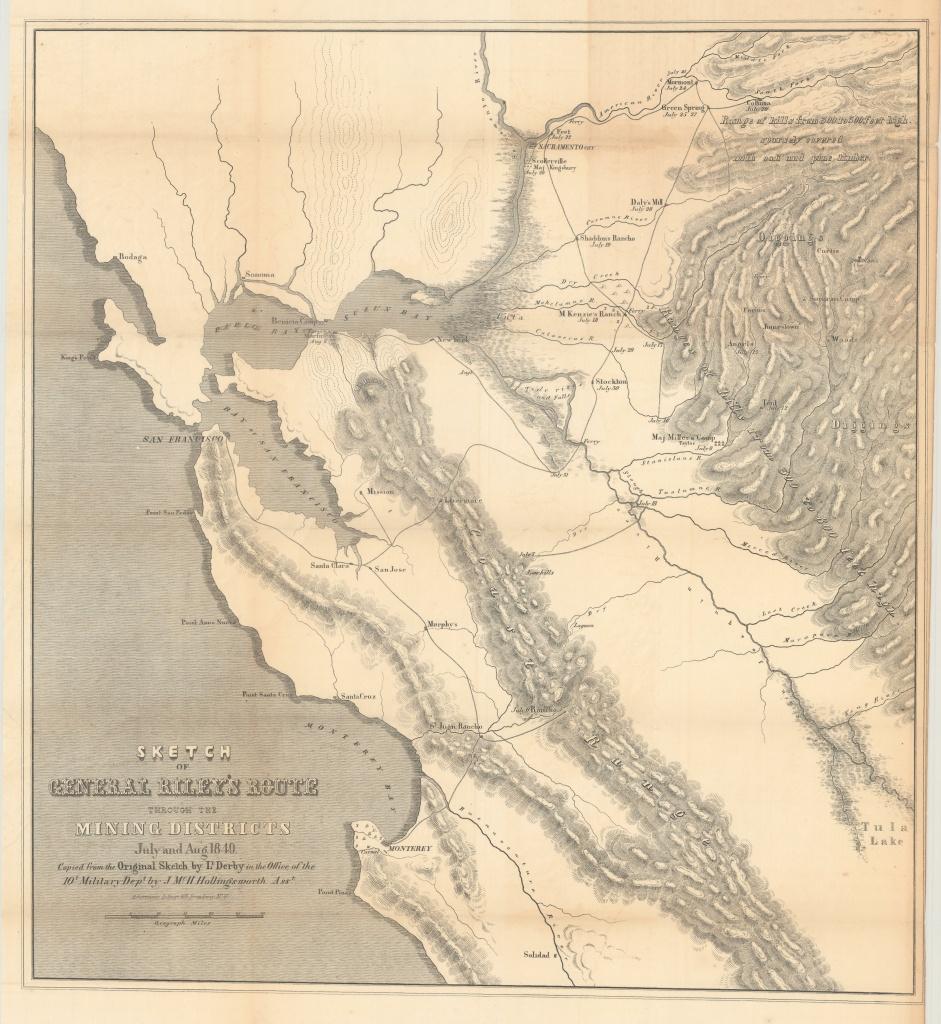California Gold Rush Map - Philadelphia Print Shop West - California Gold Rush Map