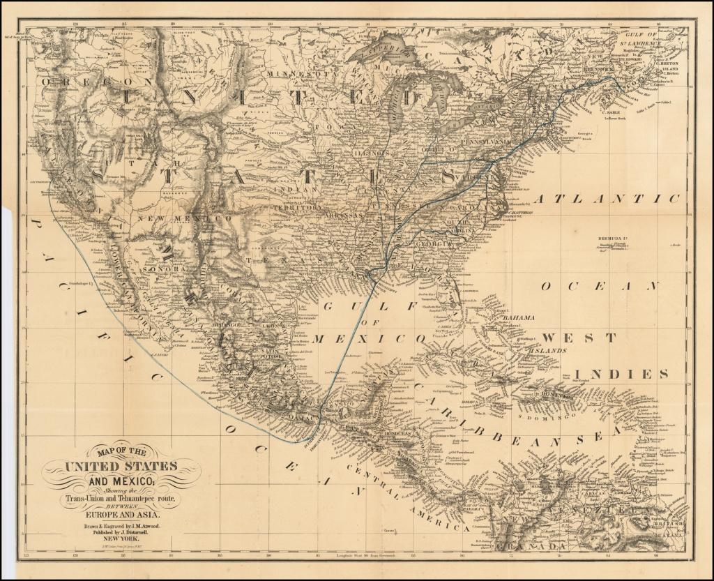 California Gold Rush Rarity) Map Of The United States And Mexico - California Gold Rush Map