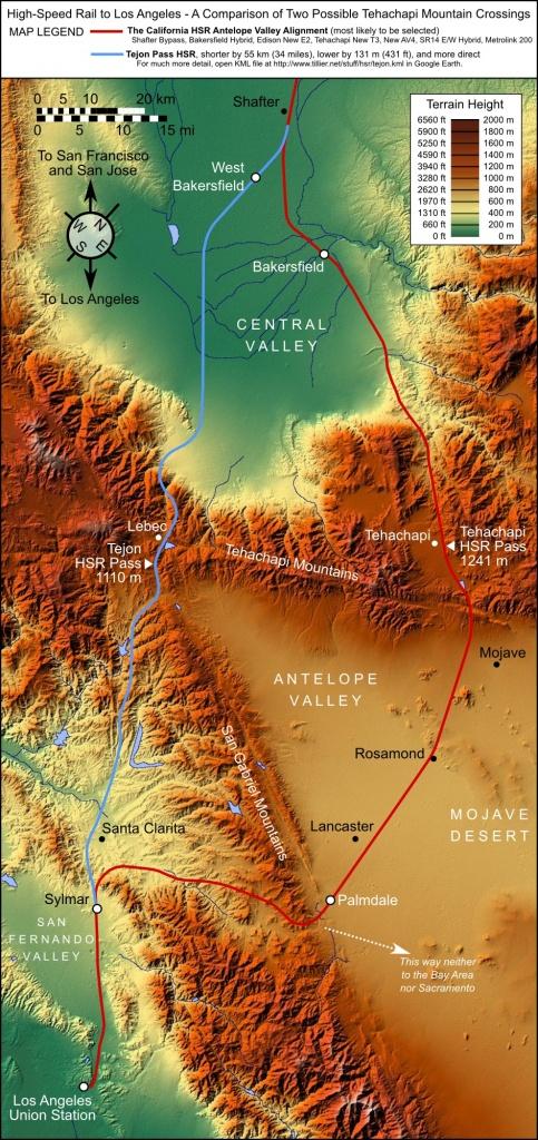 California High Speed Rail Blog » The Truth About Tejon - California Rail Pass Map