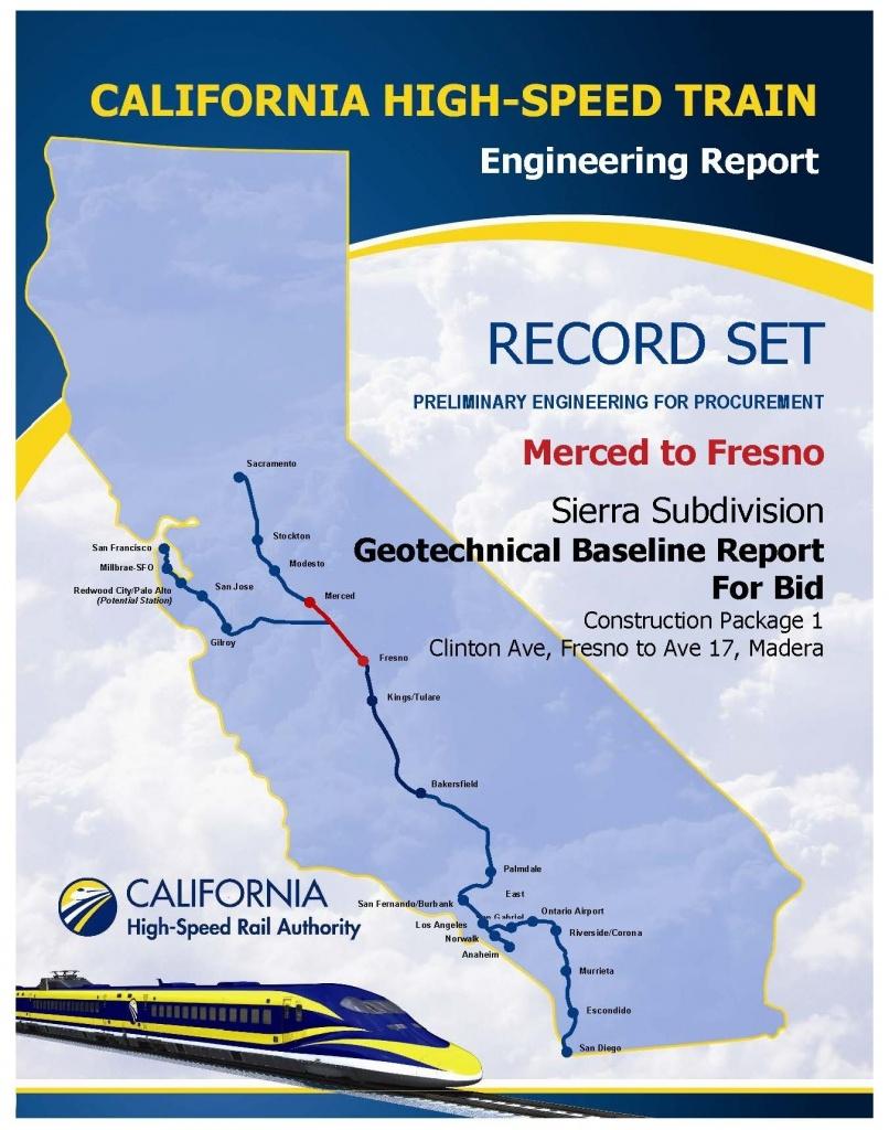 California High Speed Rail Map San Jose – Map Of Usa District - California Bullet Train Map