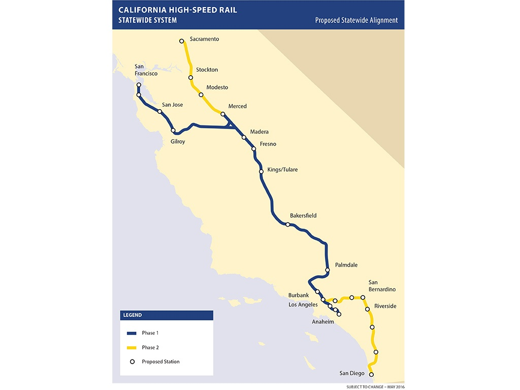 California High Speed Rail Plan Scaled Back - Railway Gazette - California High Speed Rail Map