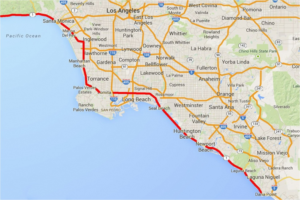 California Highway 1 Road Trip Map Driving The Pacific Coast Highway - Highway 1 California Map