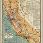 California Highway And Railroad Map   David Rumsey Historical Map   Historical Map Of California