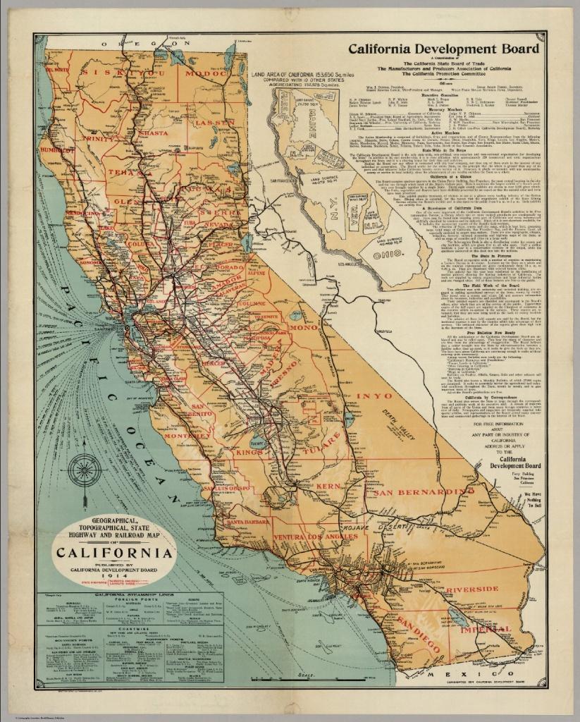 California Highway And Railroad Map - David Rumsey Historical Map - Historical Map Of California