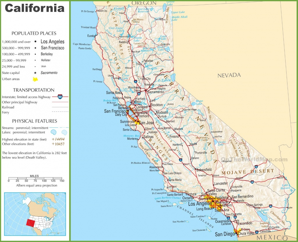 California Highway Map - California Highway Map