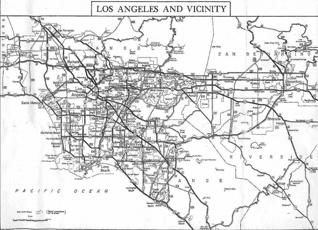 California Highways (Www.cahighways): Southern California - Map Of Southern California Freeway System