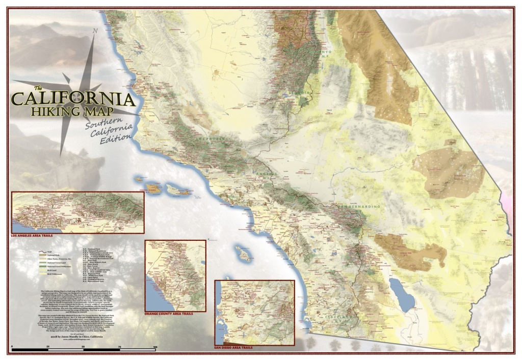 California Hiking Map - California Hiking Map