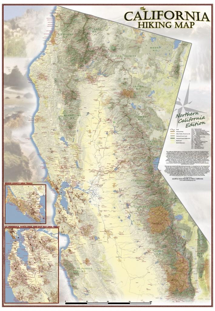 California Hiking Map - California Trail Map