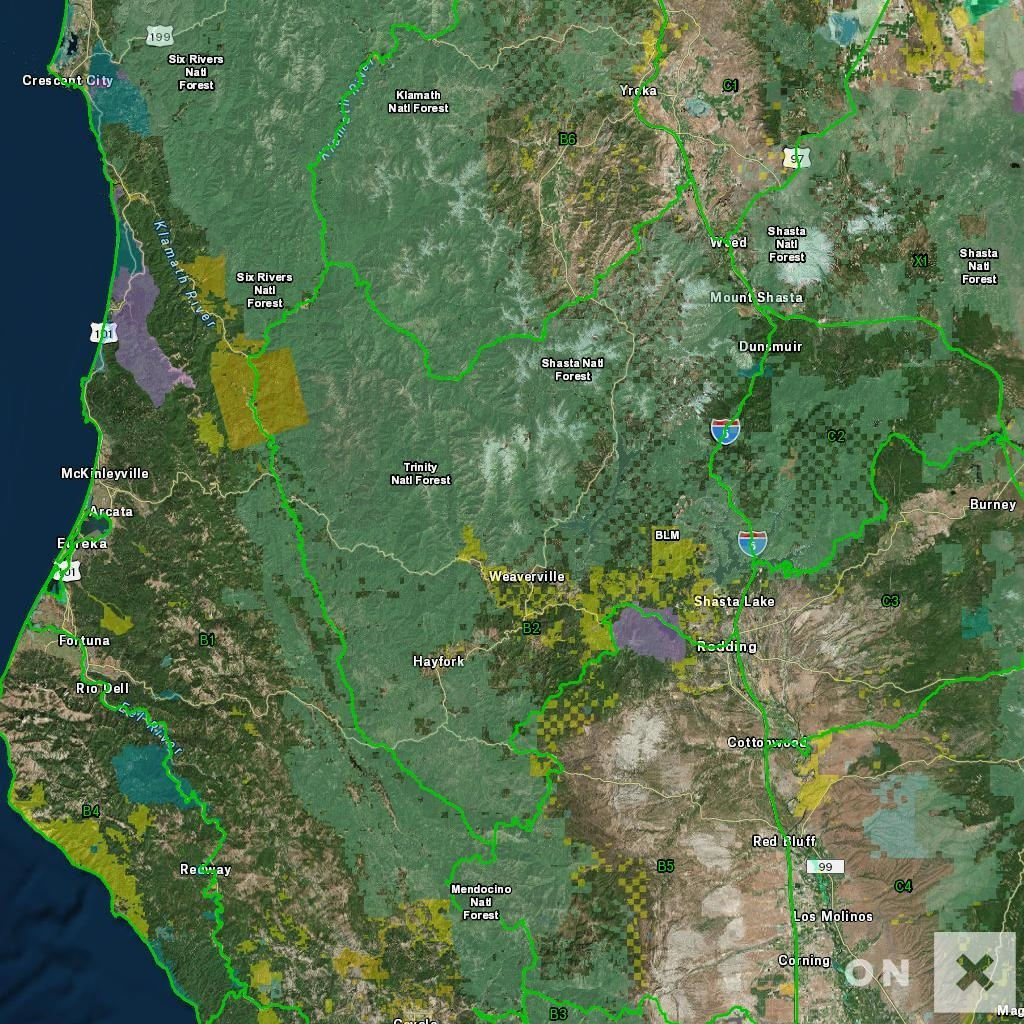 California Hunt Zone B2 Deer - California B Zone Deer Hunting Map