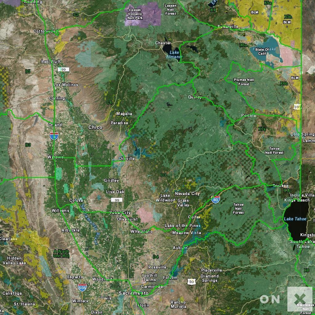 California Hunt Zone D3 Deer - California D5 Hunting Zone Map