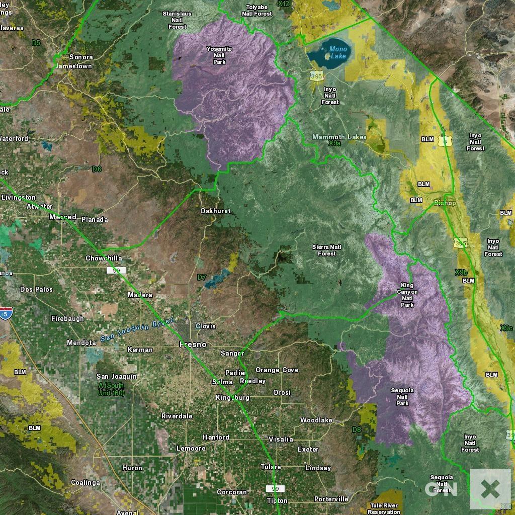 California Hunt Zone D7 Deer - California D8 Hunting Zone Map