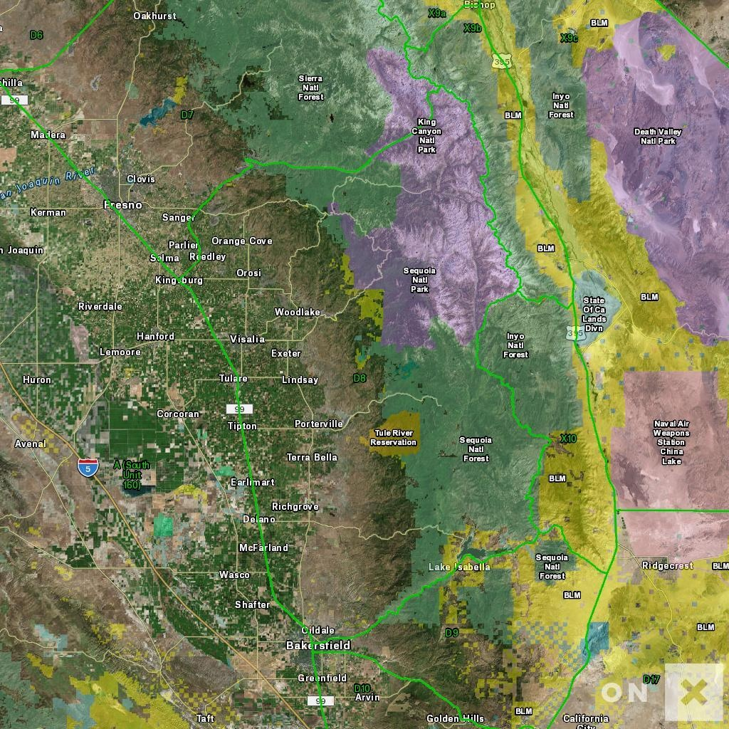 California Hunt Zone D8 Deer - California D8 Hunting Zone Map