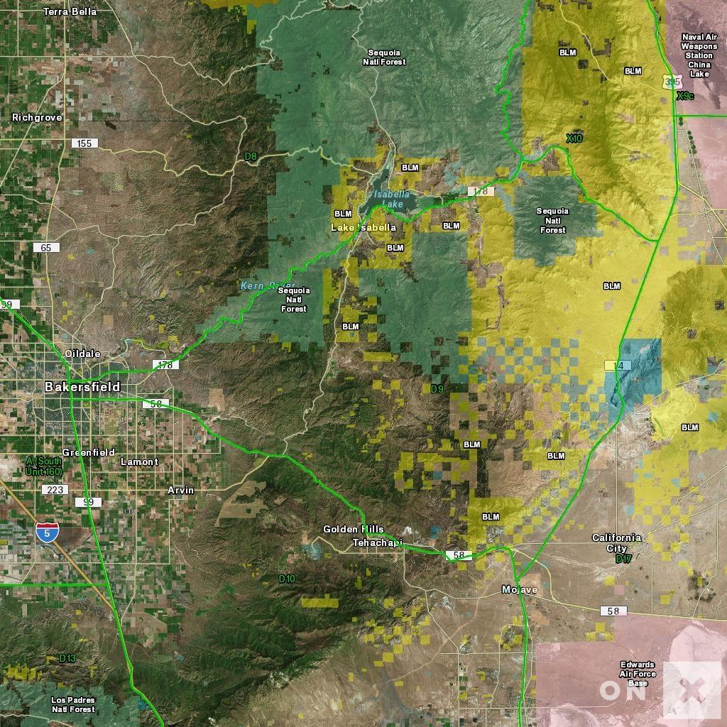 California Hunt Zone D9 Deer - California Deer Hunting Map