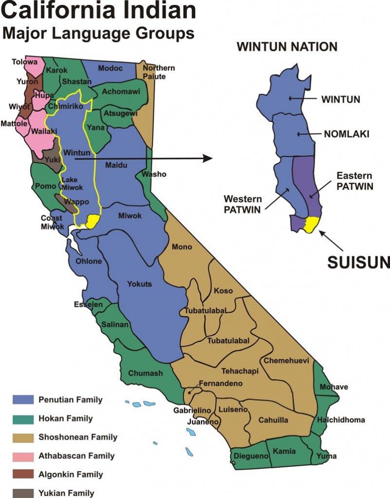 California Indians - Historical Map   Fairfield/suisun, California - Southern California Native American Tribes Map