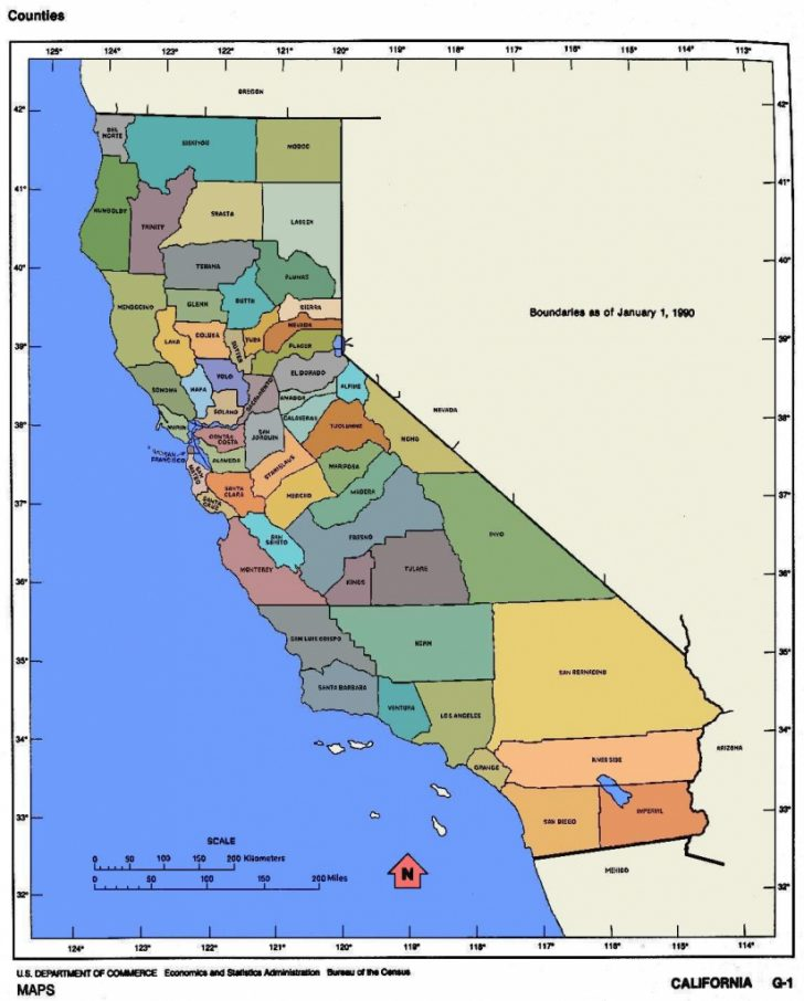 Large Map Of Southern California