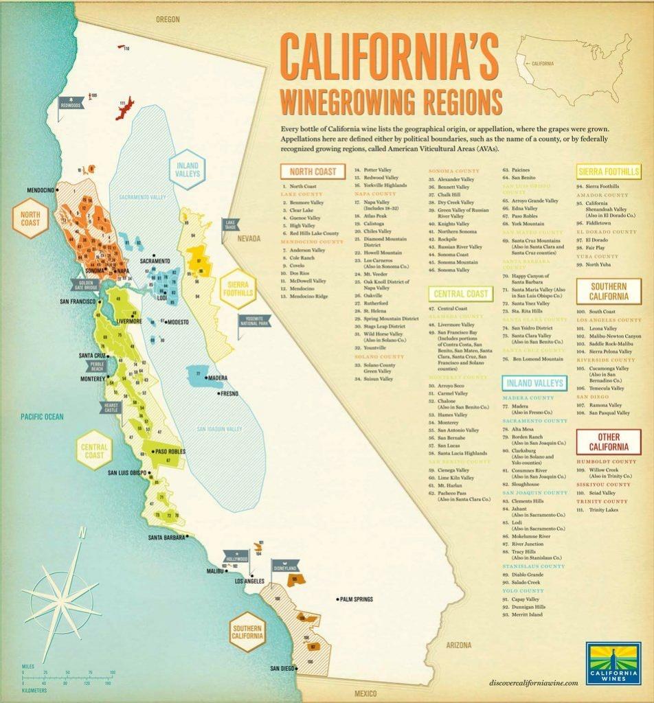 California Map Major Ava | Dimensions: 3500 X 3766 Add Gps | Wine In - California Wine Ava Map