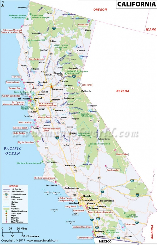 California Map   Map Of Ca, Us   Information And Facts Of California - Show Me A Map Of California